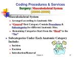 coding procedures services surgery musculoskeletal system 20000 29999