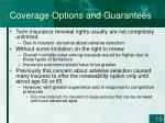 coverage options and guarantees2