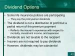 dividend options