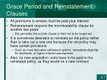 grace period and reinstatement clauses1
