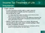 income tax treatment of life insurance1