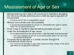 misstatement of age or sex