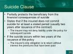 suicide clause