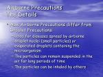 airborne precautions the details