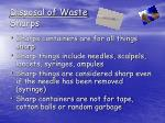 disposal of waste sharps