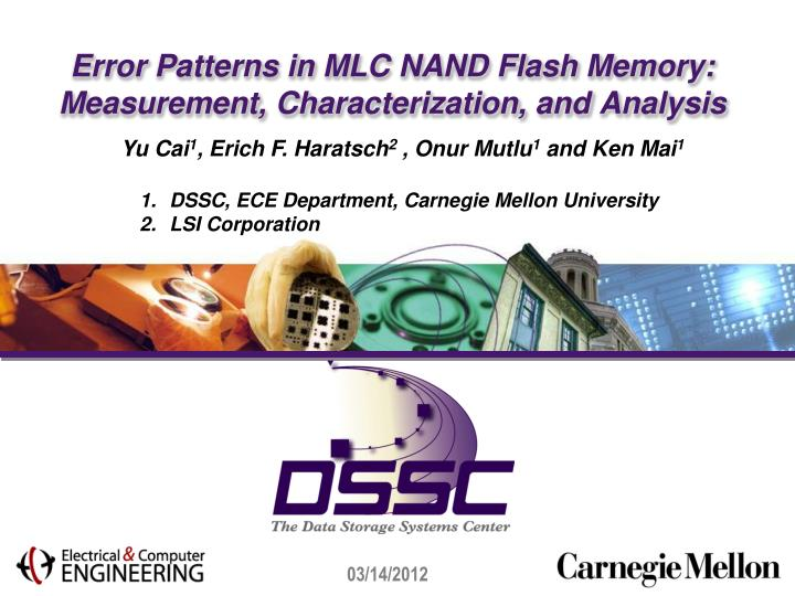 error patterns in mlc nand flash memory measurement characterization and analysis n.