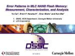 error patterns in mlc nand flash memory measurement characterization and analysis