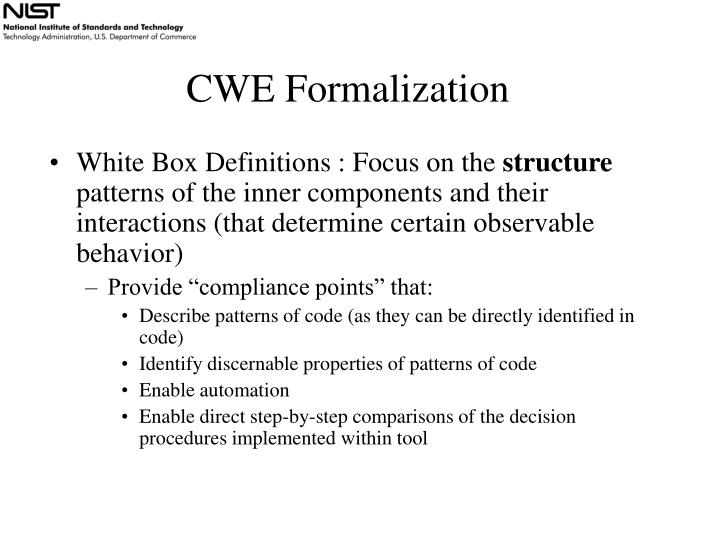 CWE Formalization