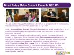 direct policy maker contact example gce us