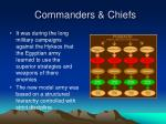 commanders chiefs