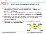 collaborations et prolongements