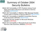 summary of october 2004 security bulletins
