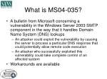 what is ms04 035