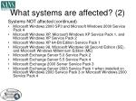 what systems are affected 2