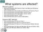 what systems are affected1