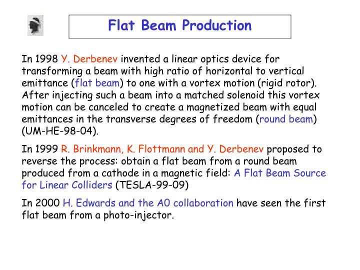 Flat Beam Production