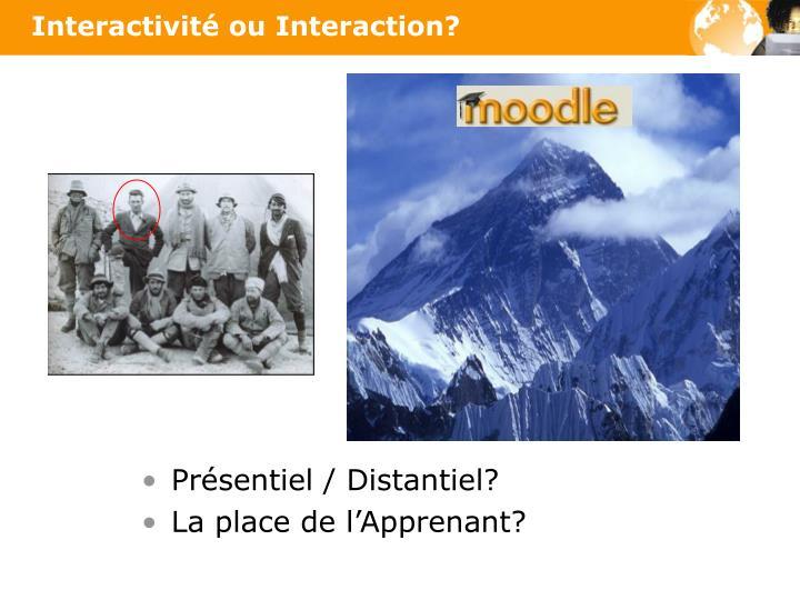 Interactivité ou Interaction?
