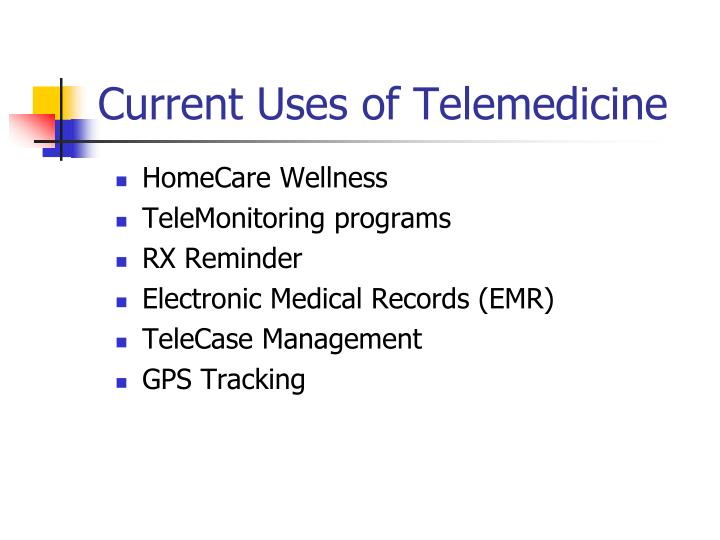 Current Uses of Telemedicine