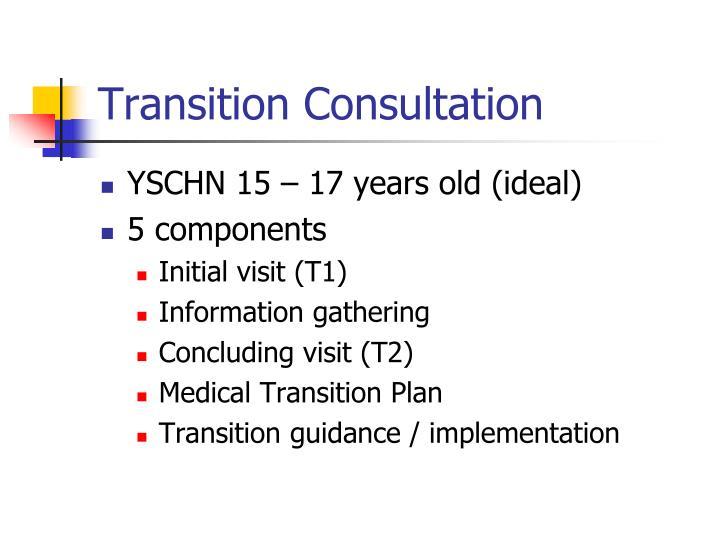 Transition Consultation