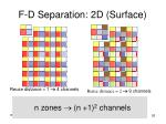 f d separation 2d surface