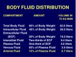body fluid distribution