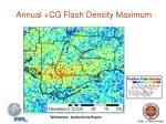 annual cg flash density maximum