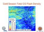 cold season total cg flash density