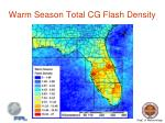 warm season total cg flash density