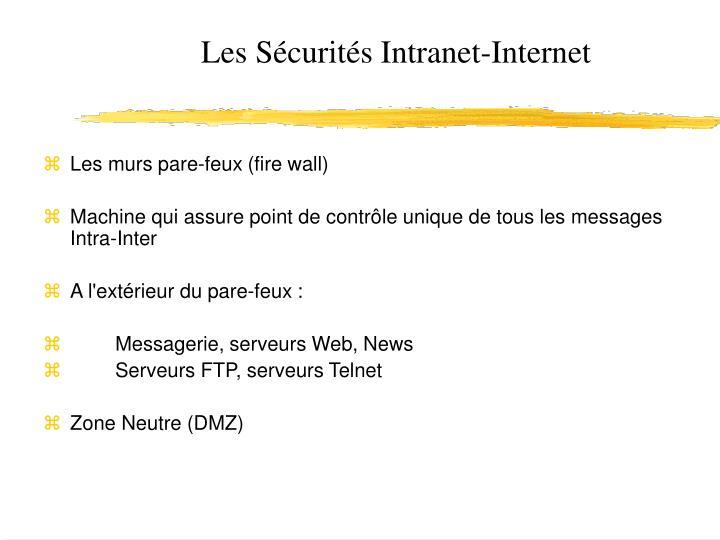 Les s curit s intranet internet