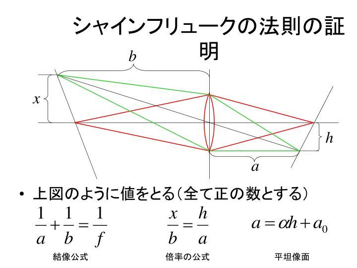 シャインフリュークの法則の証明
