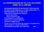 la consolidacion de villa el salvador como villa urbana