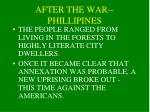 after the war phillipines