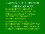 causes of the spanish american war1