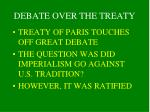 debate over the treaty