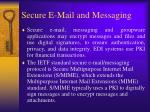 secure e mail and messaging