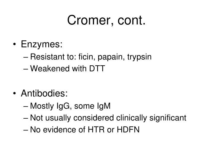 Cromer, cont.