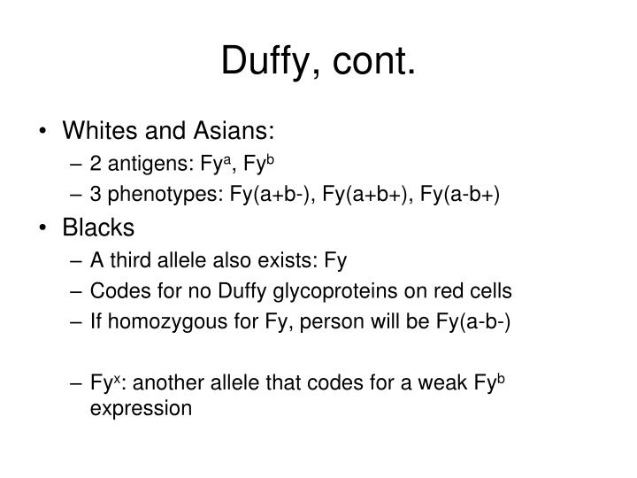 Duffy, cont.