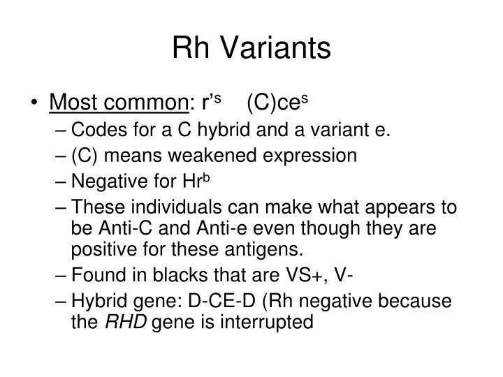 Rh Variants