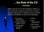 the role of the co15