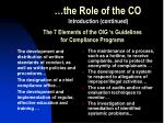 the role of the co5