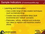 sample indicators 21stcenturyskills org