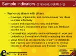 sample indicators 21stcenturyskills org1