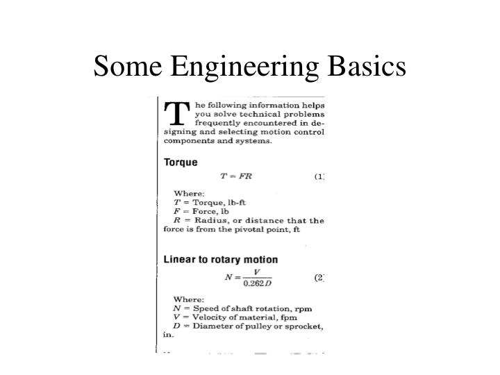 Some Engineering Basics