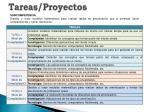 tareas proyectos