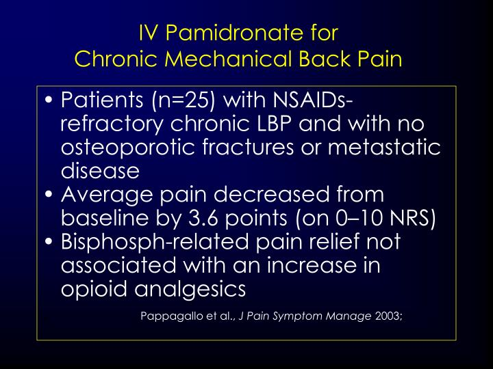 IV Pamidronate for