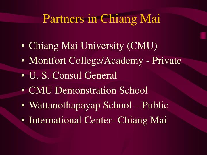 Partners in Chiang Mai