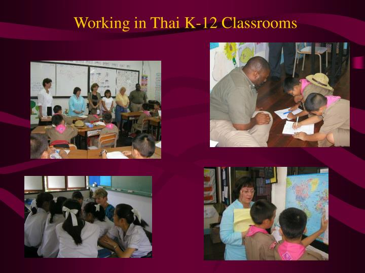 Working in Thai K-12 Classrooms
