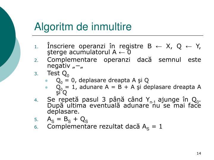Algoritm de inmultire
