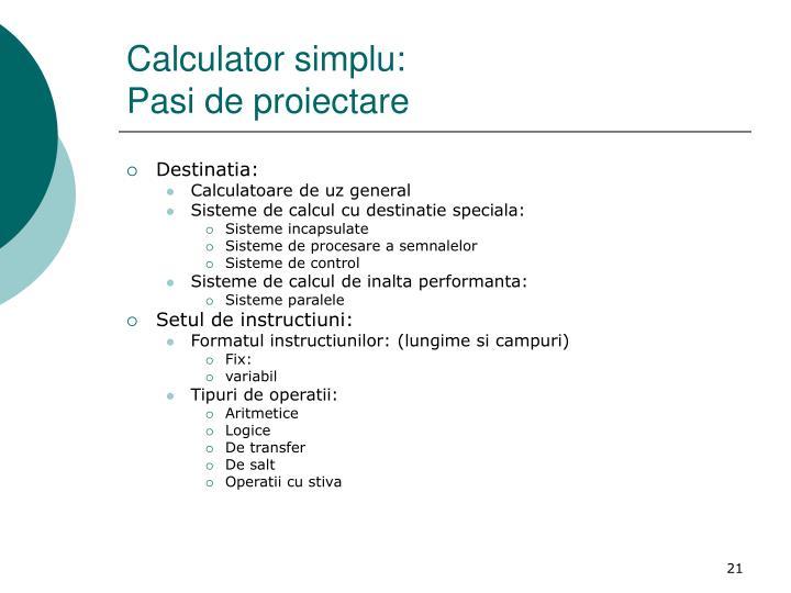 Calculator simplu: