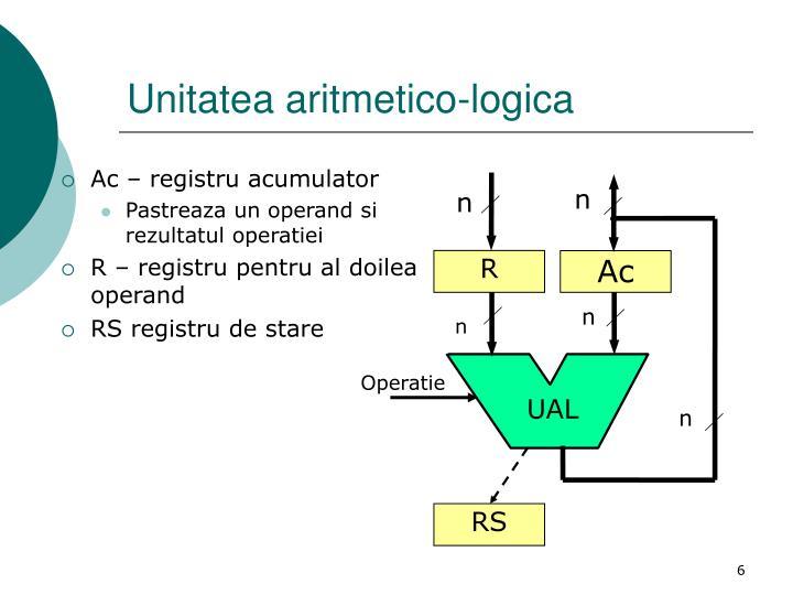 Unitatea aritmetico-logica